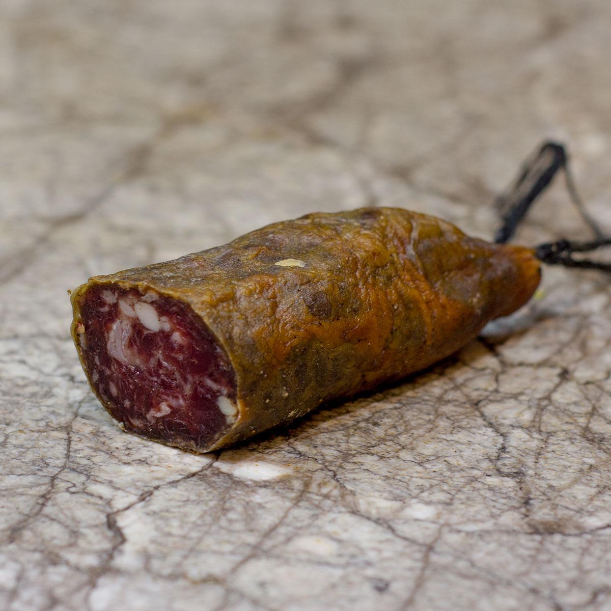 Saucisson Corse fermier Porc Noir - Charcuterie Corse Porcu Nustrale